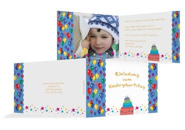 Einladungskarte Foto Luftballon