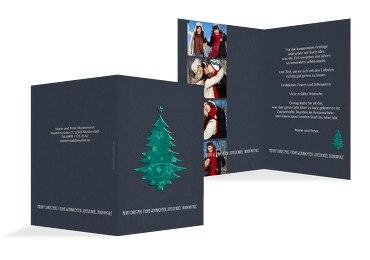 Weihnachtsgrußkarte Foto Baum