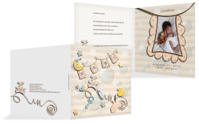 Babykarte Babyelements