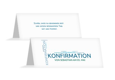 Konfirmation Tischkarte Script