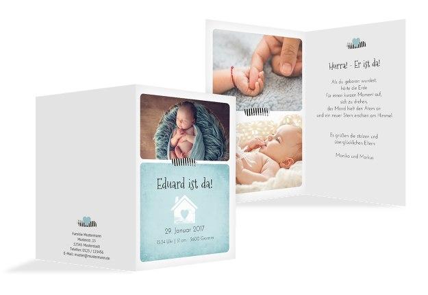 Babykarte Häuschen