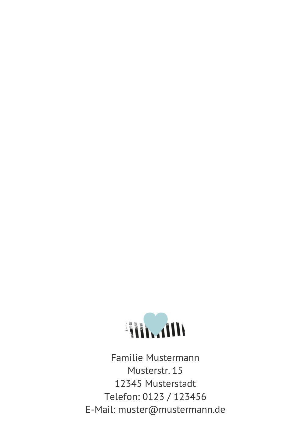Ansicht 2 - Babykarte Häuschen