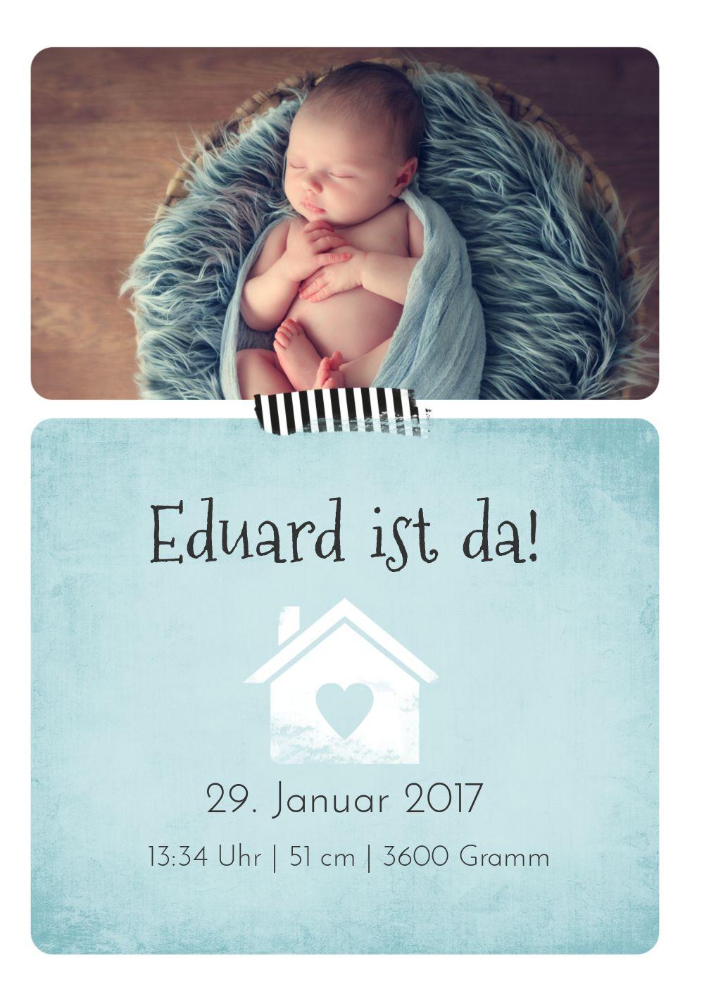 Ansicht 3 - Babykarte Häuschen