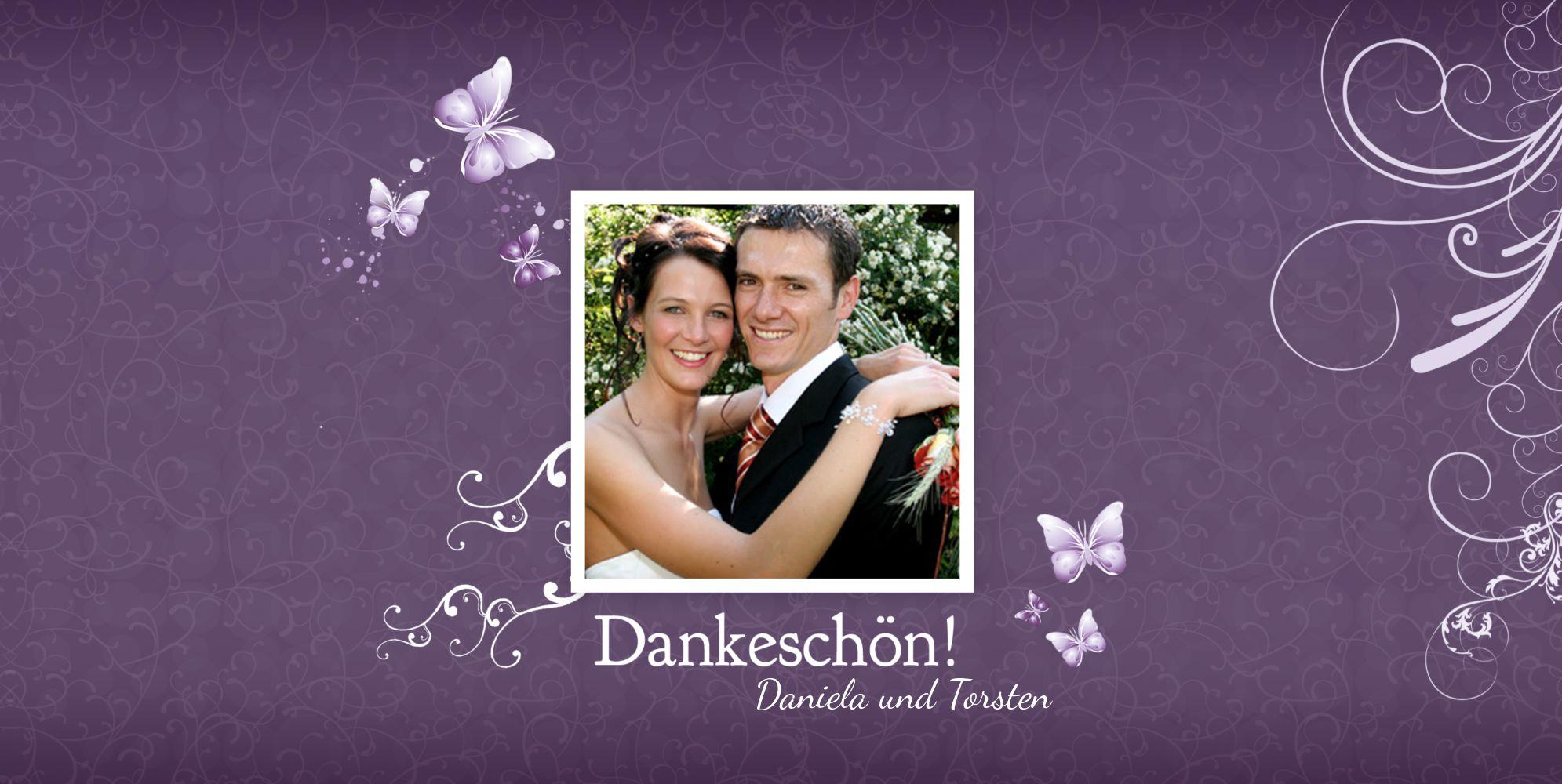 Ansicht 3 - Hochzeit Danke Din butterfly