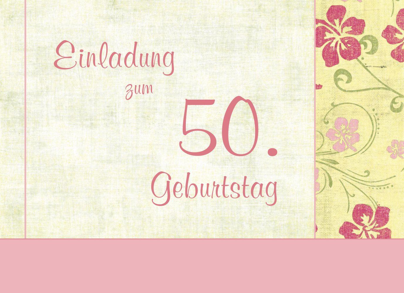 Ansicht 3 - Einladung zum Geburtstag Foto Hibiskus 50