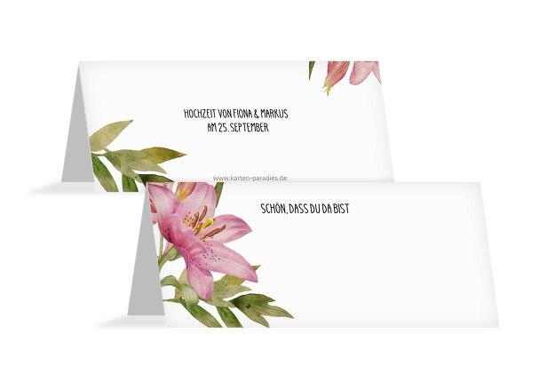 Hochzeit Tischkarte Blumendeko