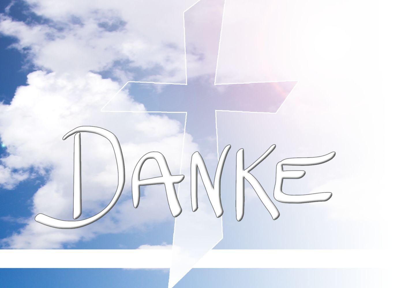 Ansicht 3 - Taufe Dankeskarte Himmelskreuz