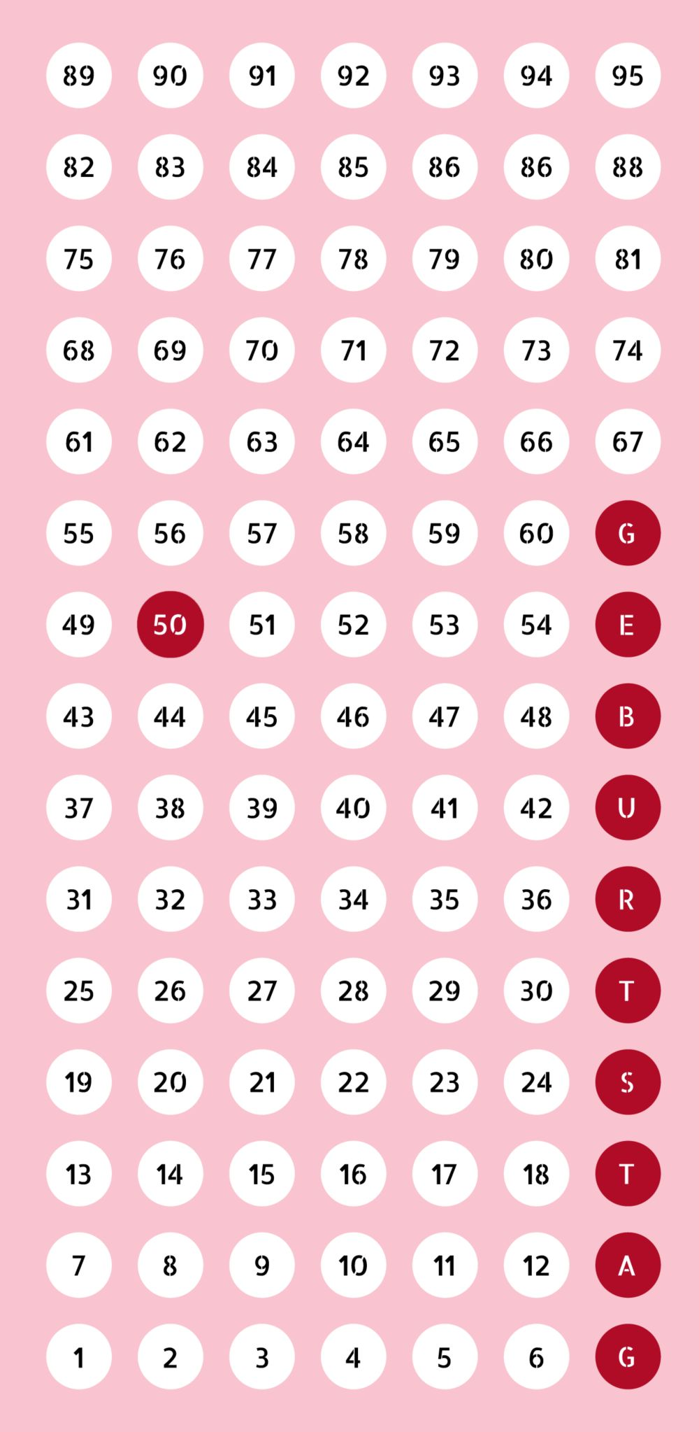 Ansicht 3 - Geburtstagseinladung Zahlenspiel 50
