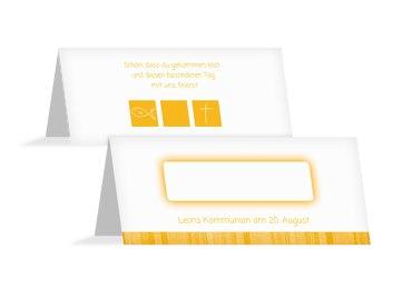 Tischkarte Kommunion White