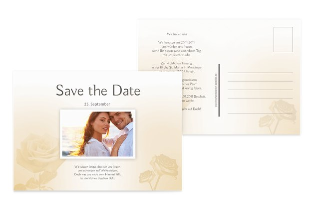 Save-the-Date Rose