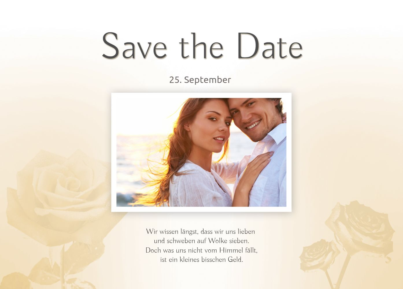 Ansicht 2 - Save-the-Date Rose