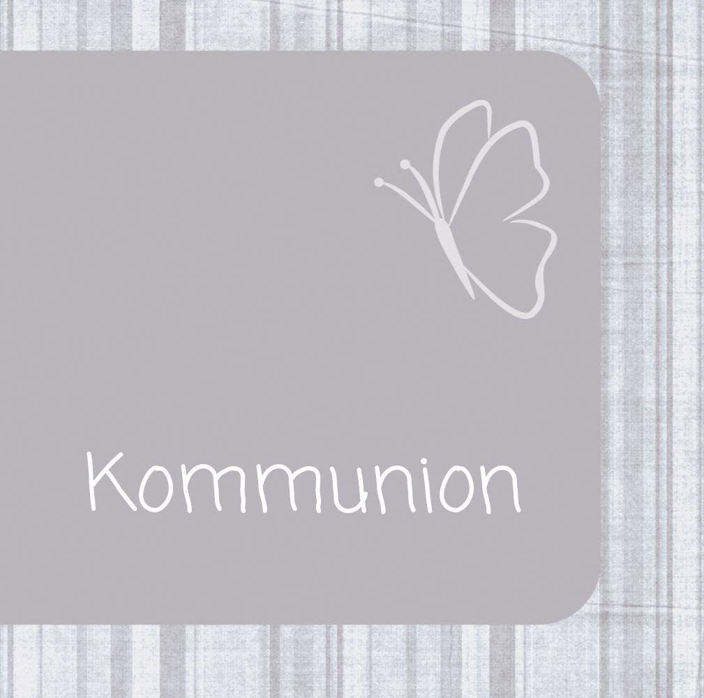 Ansicht 2 - Kommunionskarte Butterfly 2