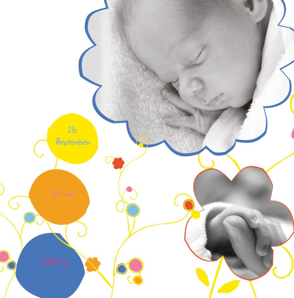 Ansicht 4 - Babykarte Zauberblumen