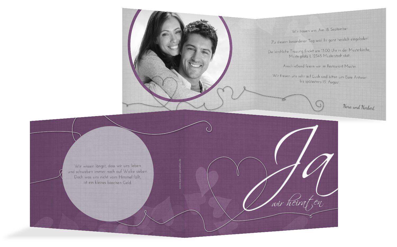 Hochzeit Einladungskarte ewiges Band