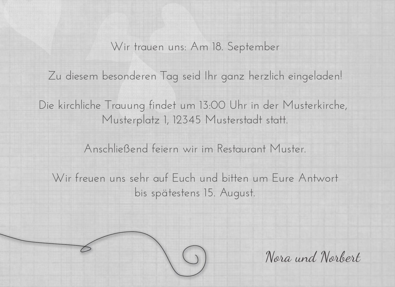 Ansicht 5 - Hochzeit Einladungskarte ewiges Band