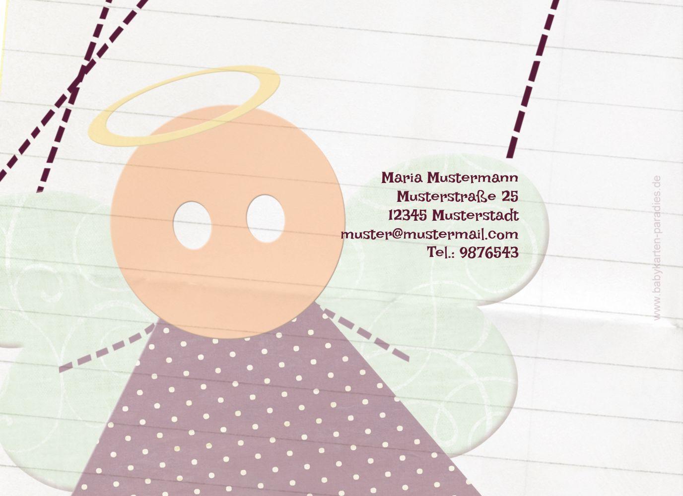 Ansicht 2 - Dankeskarte Stoffengelchen