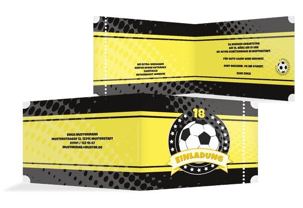 Einladungskarte Fußballstar 18