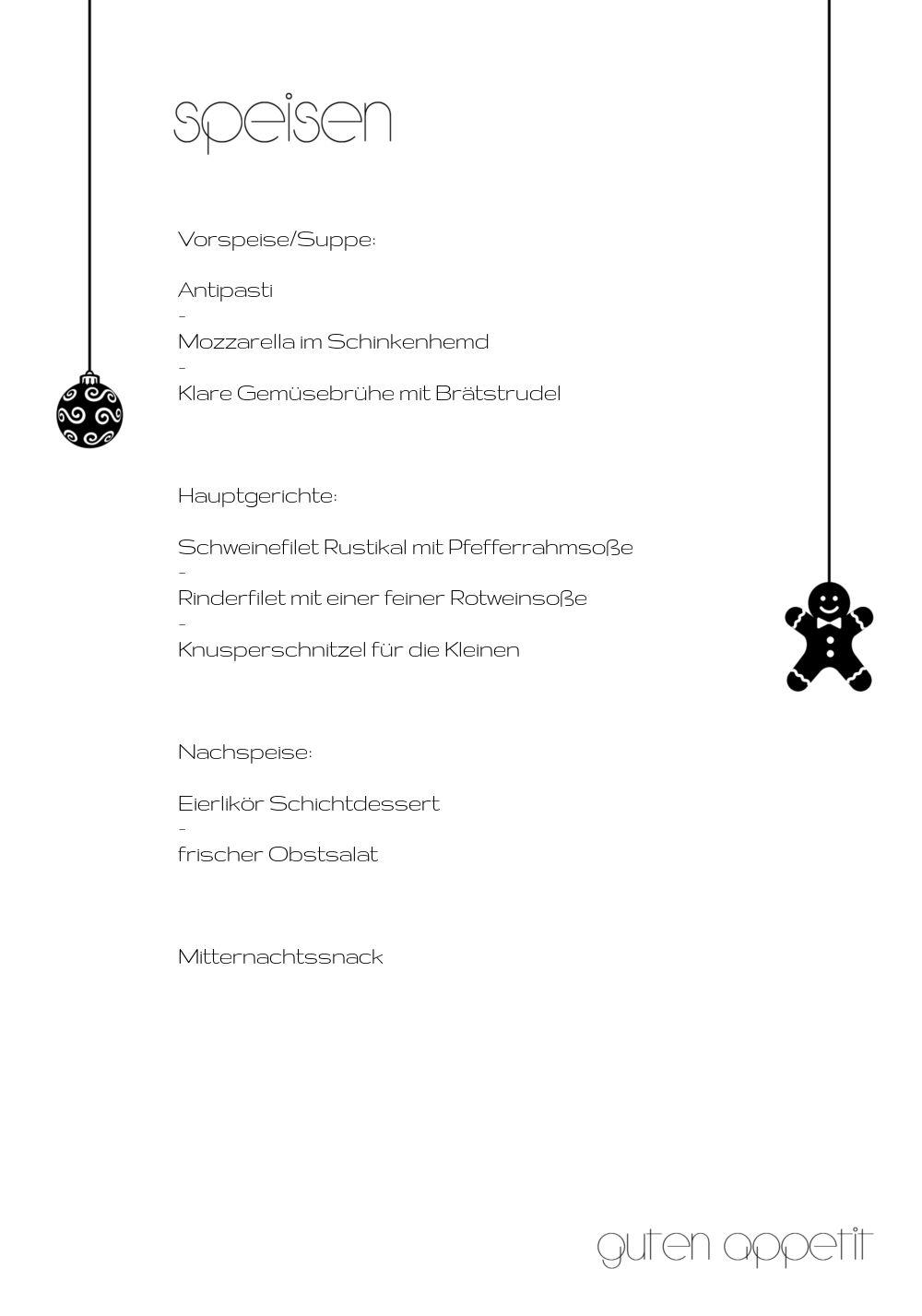 Ansicht 5 - Menükarte Schmuckelemente