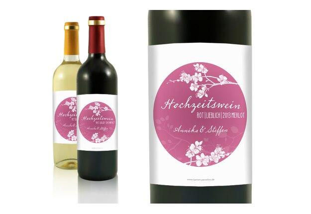 Flaschenetikett Cherry Blossom