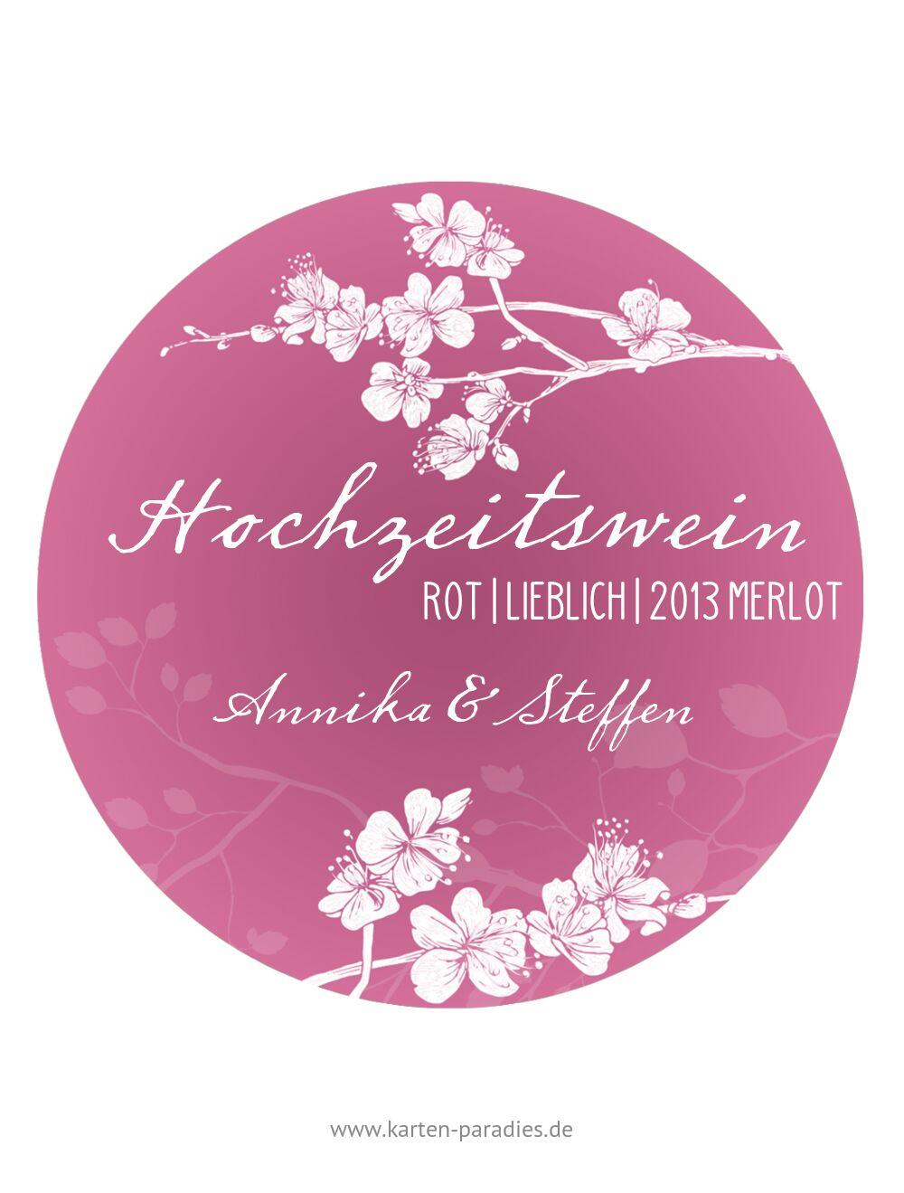 Ansicht 2 - Flaschenetikett Cherry Blossom