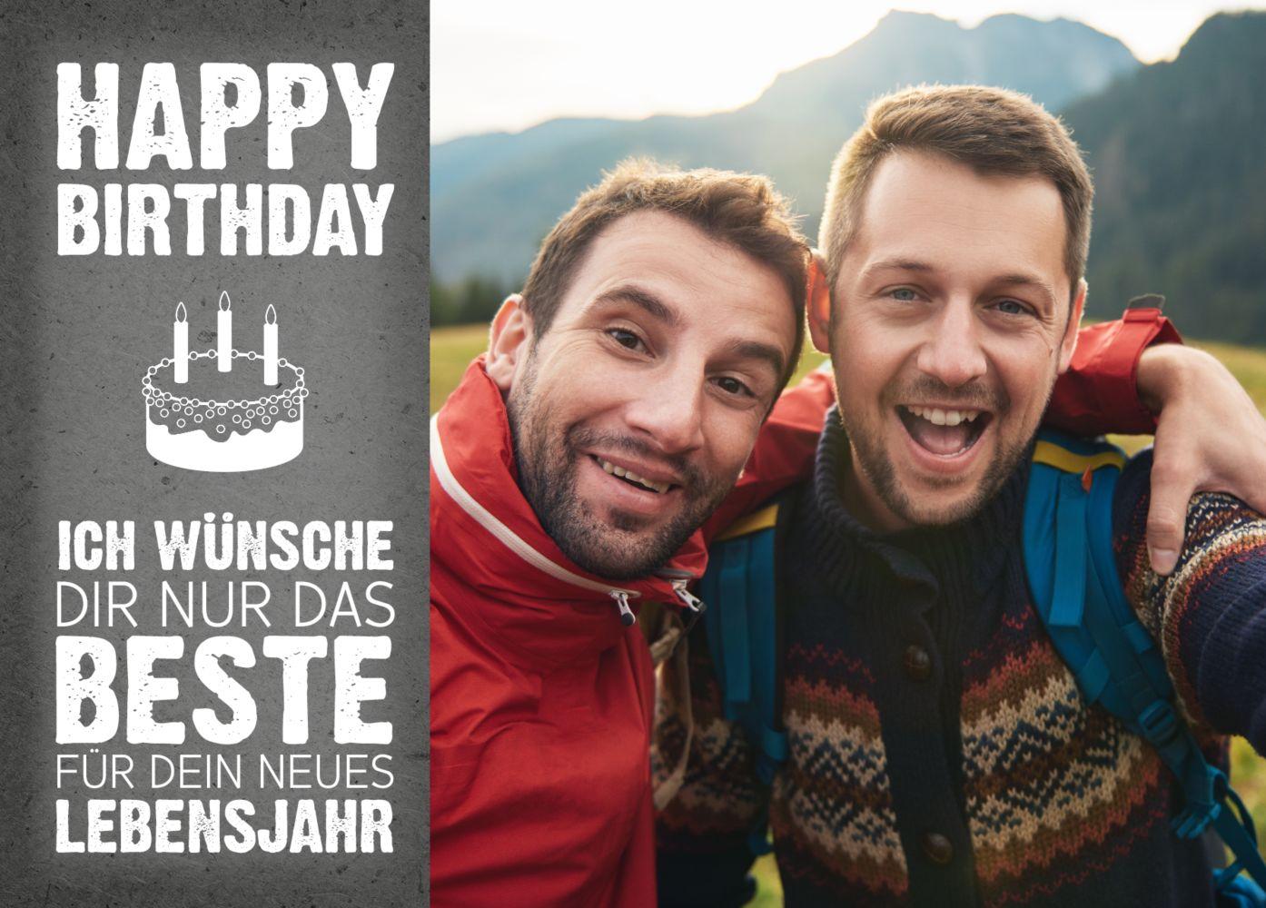 Ansicht 2 - Glückwunschkarte zum Geburtstag Torte