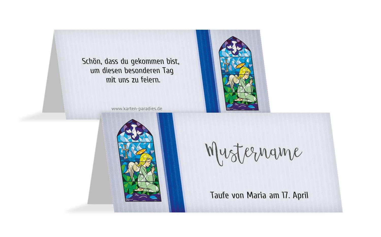 Tischkarte Kirchenfenster