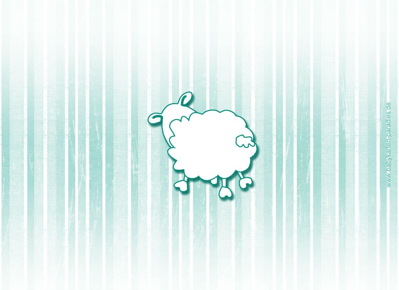 Ansicht 2 - Baby Dankeskarte sheep