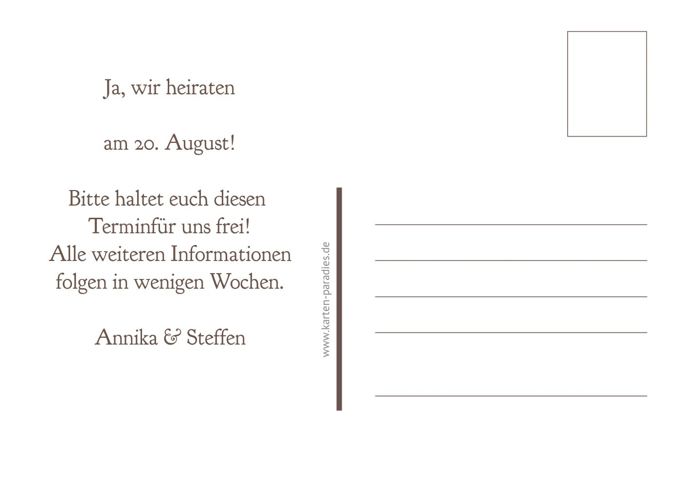 Ansicht 3 - Save-the-Date Ringe
