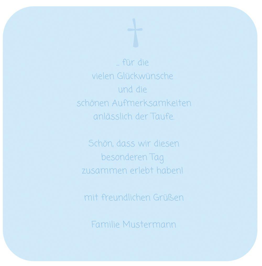 Ansicht 5 - Taufe Danke Kästchen