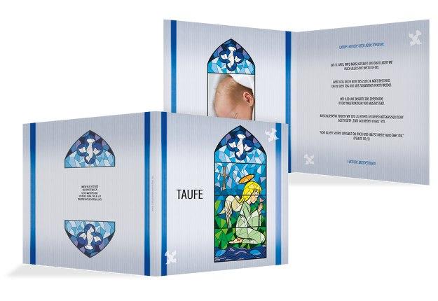 Taufkarte Kirchenfenster