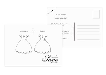 Hochzeit Save-the-Date dresses