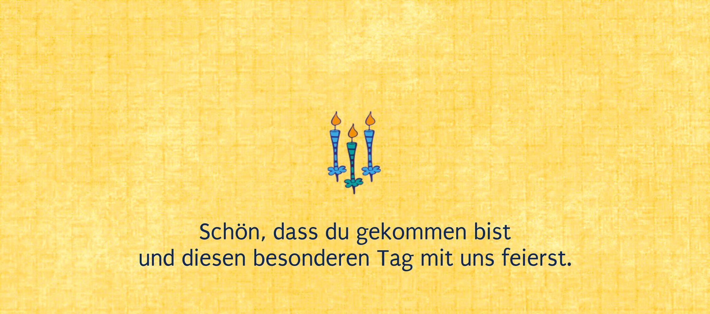 Ansicht 2 - Taufe Tischkarte Kerzen