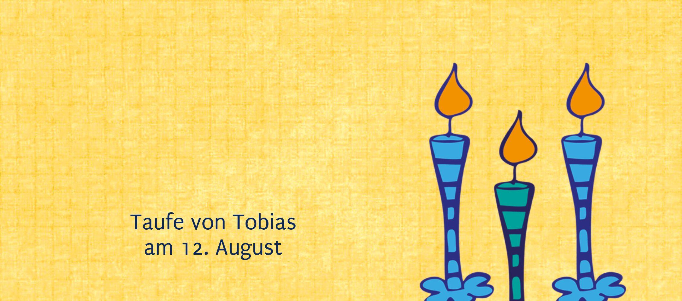 Ansicht 3 - Taufe Tischkarte Kerzen