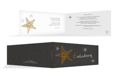 Einladung curly star