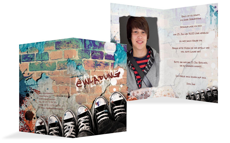 Geburtstagskarte Jugendliche Graffiti Foto