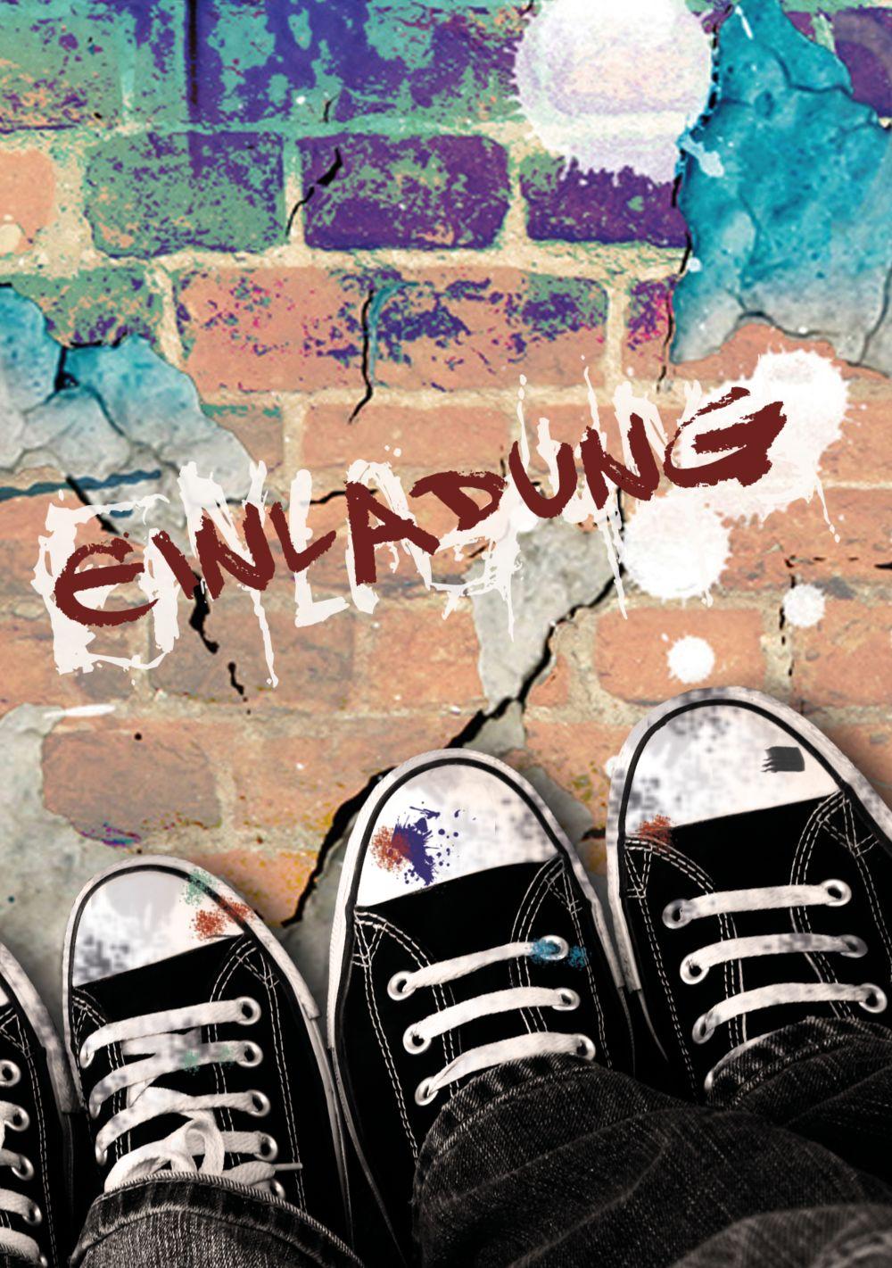 Ansicht 3 - Geburtstagskarte Jugendliche Graffiti Foto