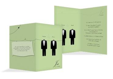 Hochzeit Einladungskarte suits