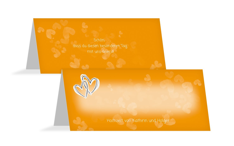 Hochzeit Tischkarte Liebesglück