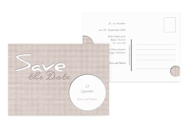 Save-the-Date wedding harmony