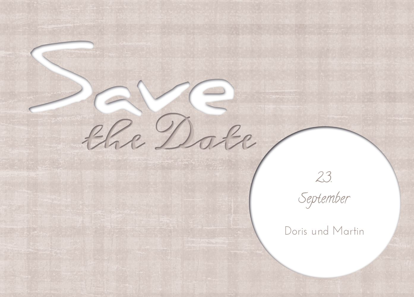 Ansicht 2 - Save-the-Date wedding harmony