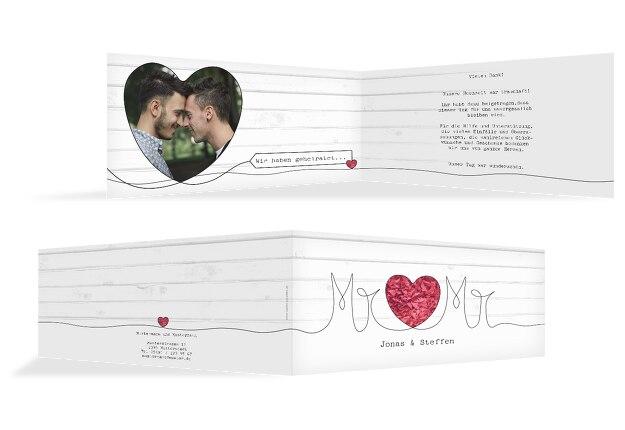 Hochzeit Dankeskarte Mr&Mr