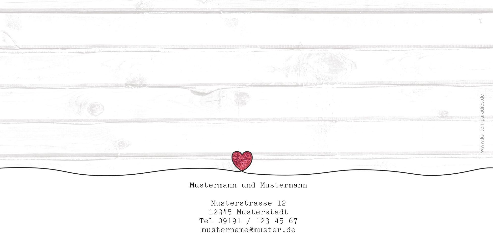 Ansicht 2 - Hochzeit Dankeskarte Mr&Mr