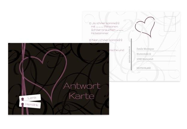 Hochzeit Antwortkarte Band