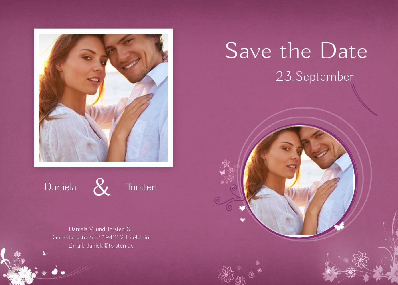 Ansicht 2 - Save-the-Date 3 Liebeserfüllung