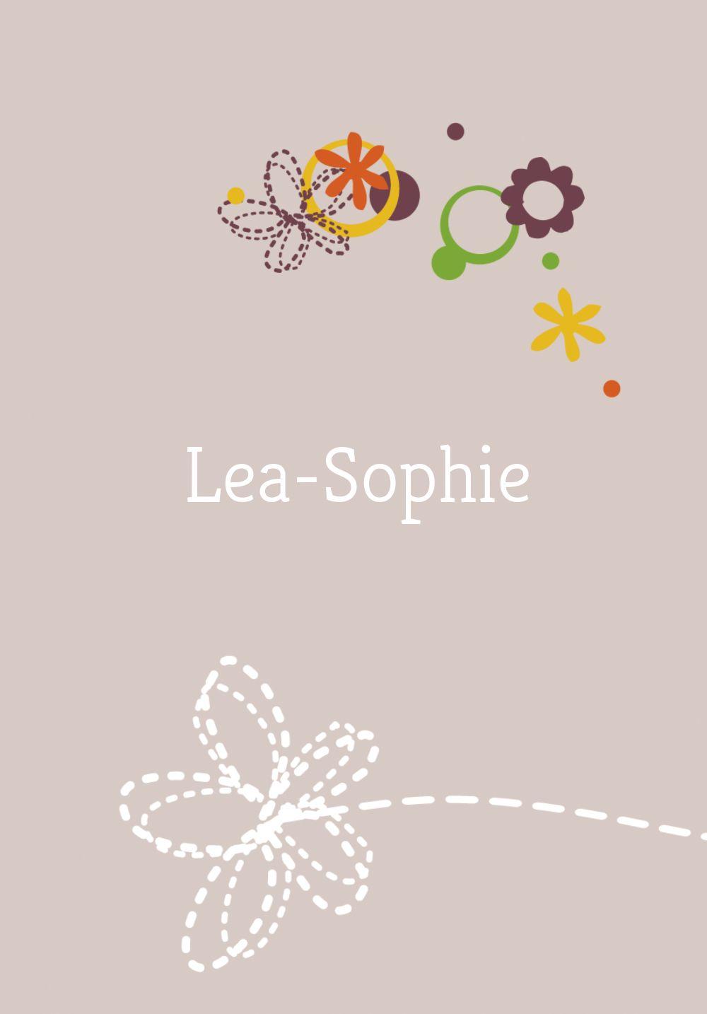 Ansicht 2 - Babykarte Blumenornament