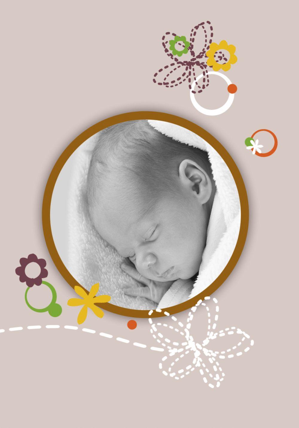 Ansicht 4 - Babykarte Blumenornament