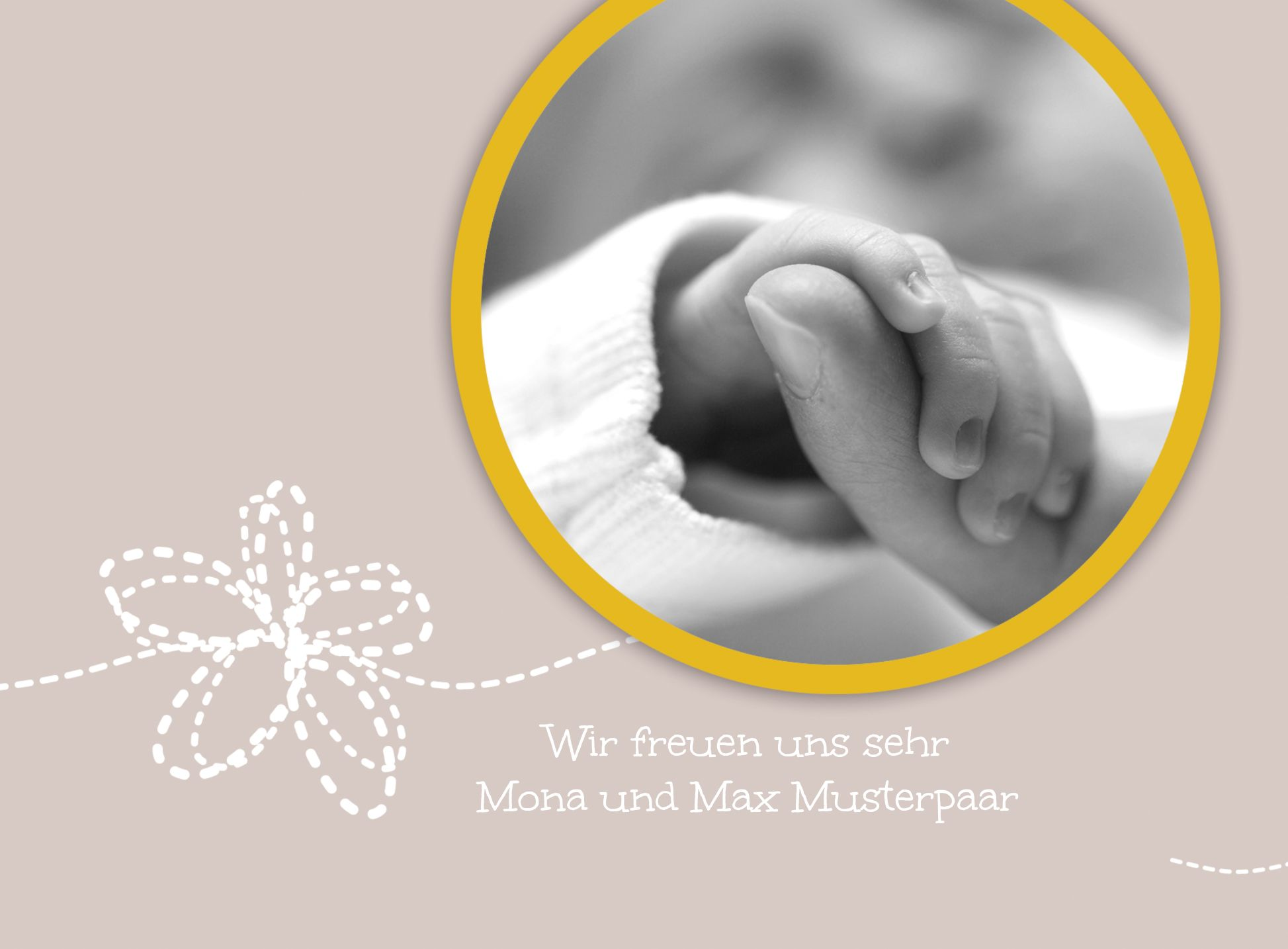 Ansicht 6 - Babykarte Blumenornament