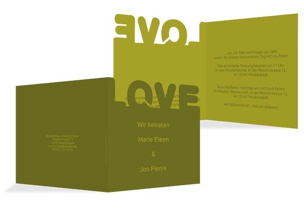 Kontur Einladung Love