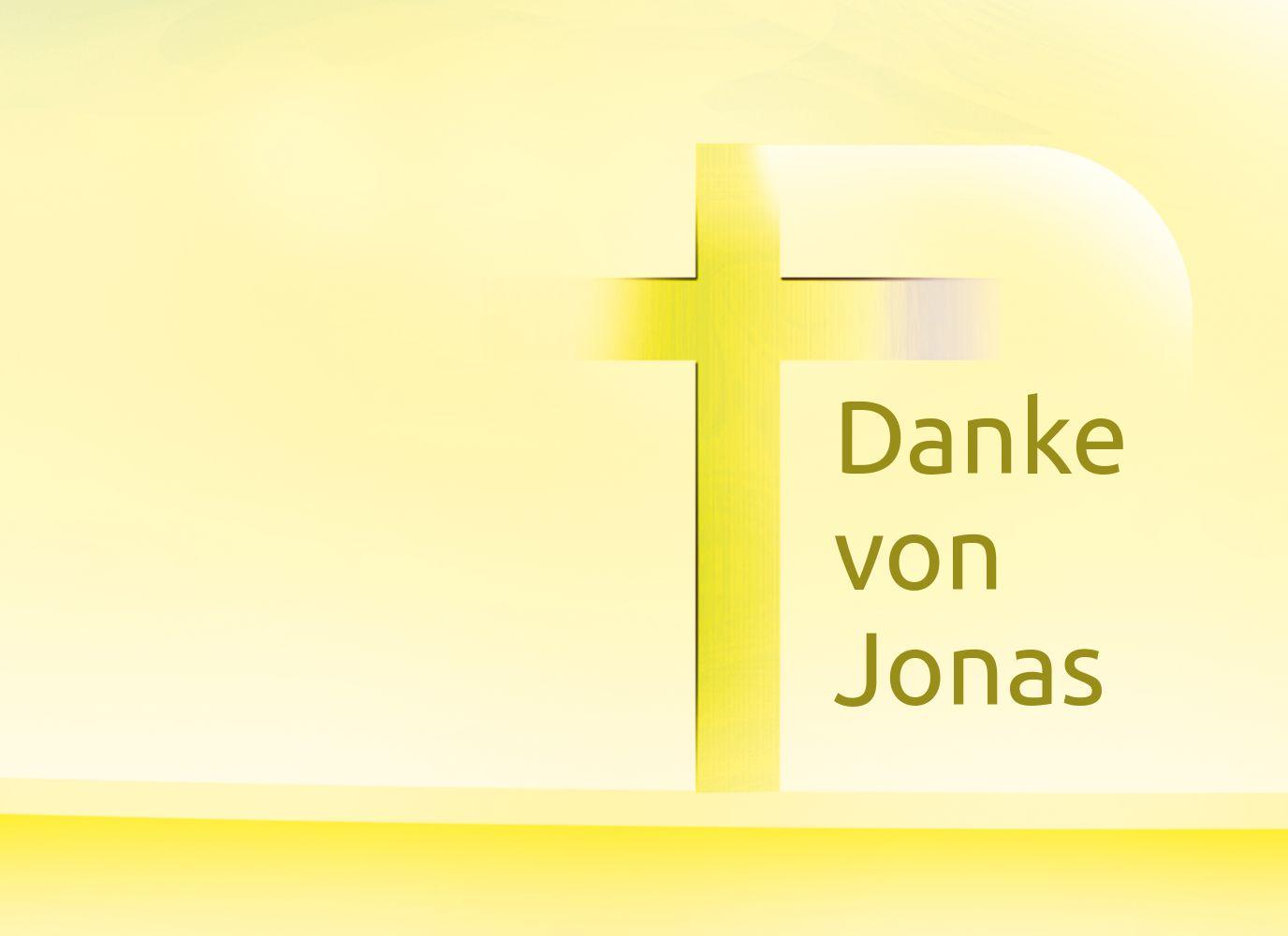 Ansicht 3 - Taufe Dankeskarte Kreuz