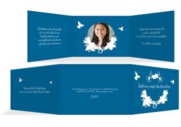 Kommunion Dankeskarte Vogel
